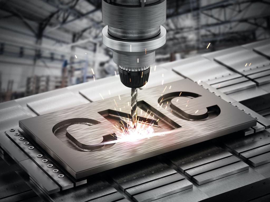 Closeup of generic CNC drill equipment