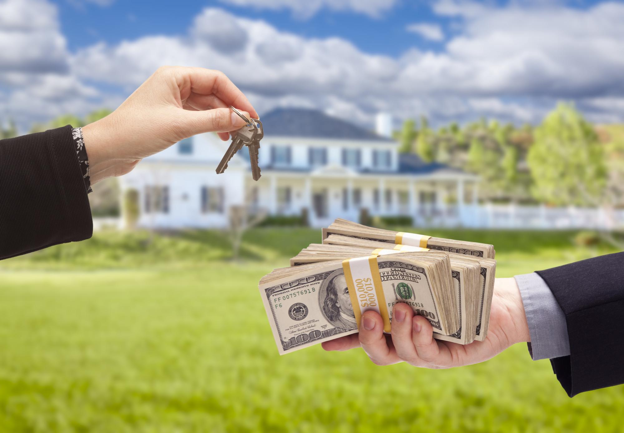 Handing Over Cash For House Keys